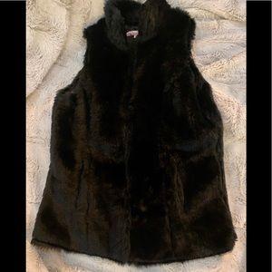 Vintage Havana Fur Vest. Size xs
